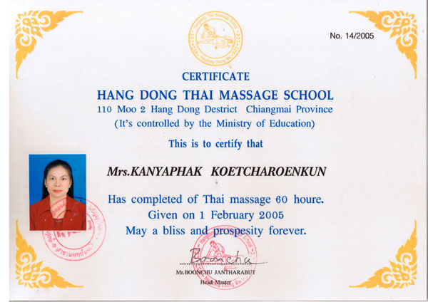 Thai traditional, foot and oil massage and massasge schools
