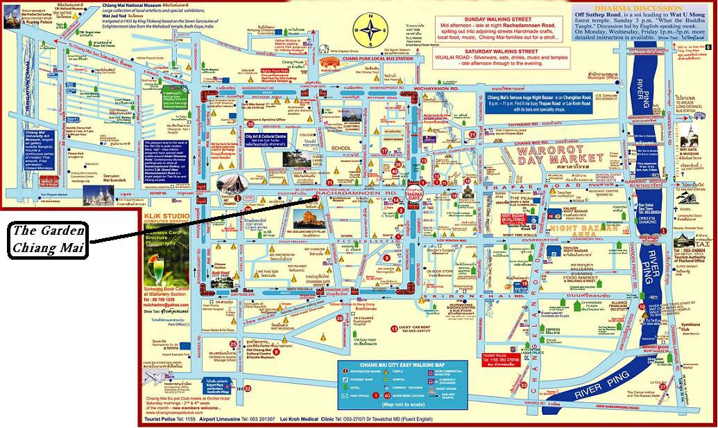 Chiang Mai Map Maps of Chiang Mai Chiang Mai Map